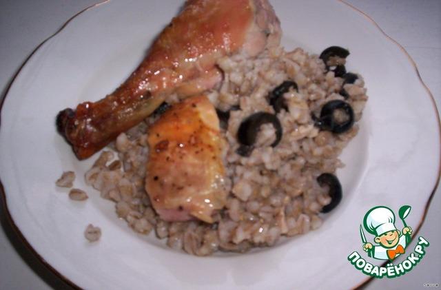 курица с кашей в мультиварке рецепты с фото