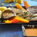 Тилапия с морковным соусом