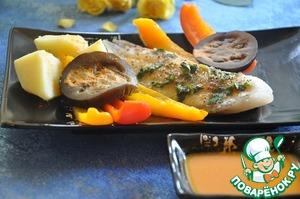 Рецепт Тилапия с морковным соусом