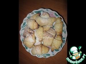 Рецепт Творожные рогалики с начинкой