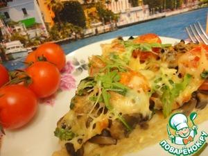 Рецепт Паста запечённая с шампиньонами
