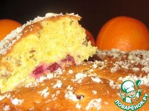 Рецепт Клюквенно-апельсиновый кекс с семечками