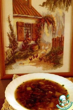 Рецепт Постный суп с домашней лапшой и белыми грибами