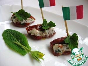 Рецепт: Вяленые томаты с рикоттой