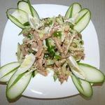 Салат из овощей с мясом