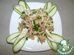 Рецепт Салат из овощей с мясом