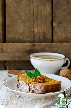 Рецепт Тыквенно-овсяный кекс с орехами и пряностями