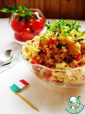 Рецепт: Салат из кускуса с тунцом