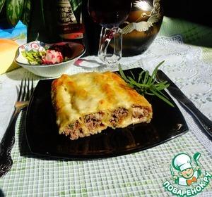 Рецепт Каннеллони с мясом и грибами