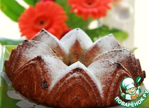 Рецепт Пряный Туринский фруктовый пирог с вяленой клюквой