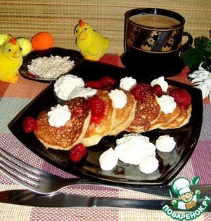 Рецепт Оладьи из овсяных хлопьев с бананами