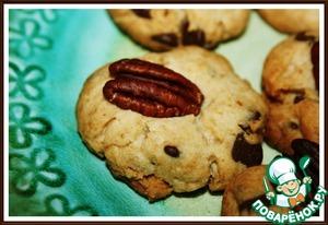 Рецепт Песочные Шоколадные Печенье с Орехами