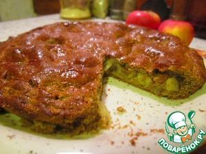 Рецепт Яблочный пирог из цельнозерновой муки