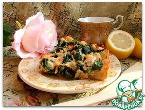 Рецепт Открытый пирог из судака и шпината