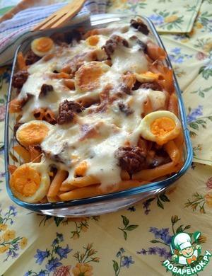 Рецепт Паста аль форно с колбасками и лисичками