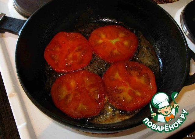 Яичница с помидорами  вкусный рецепт с пошаговым фото