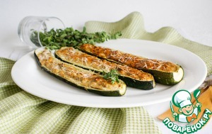 Рецепт Цукини фаршированные по-Лигурийски