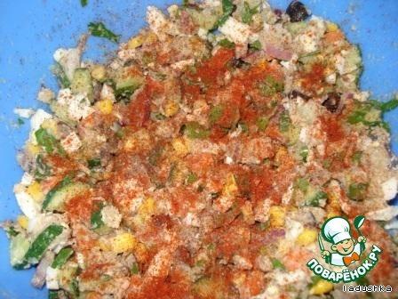 Салат сборный «Веселый» домашний рецепт приготовления с фотографиями пошагово как приготовить #6