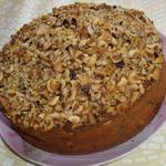 Пирог с черносливом и фундуком