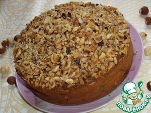 Рецепт Пирог с черносливом и фундуком