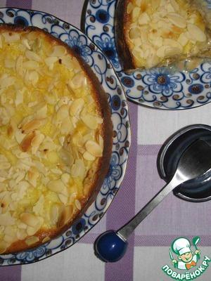 Рецепт Клафути со сливами и миндалем