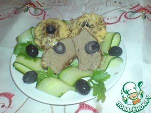 Рецепт Маффины из печени с оливками и сыром
