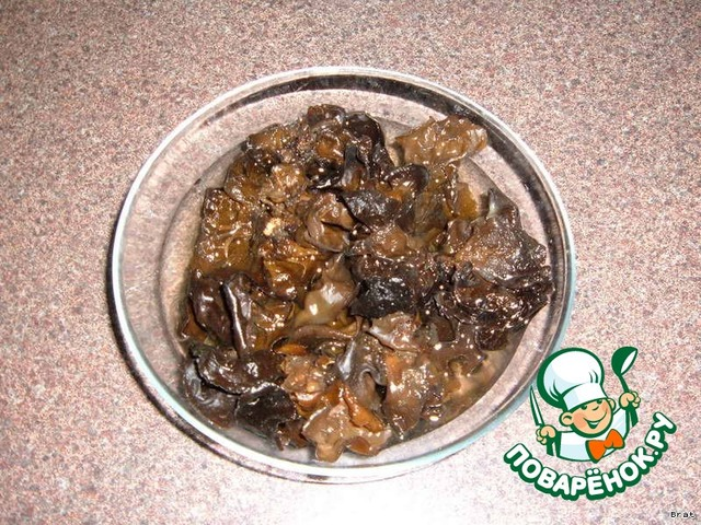 Древесные грибы китайские рецепт с пошагово