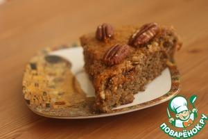 Рецепт Постный банановый пирог с орехами пекан
