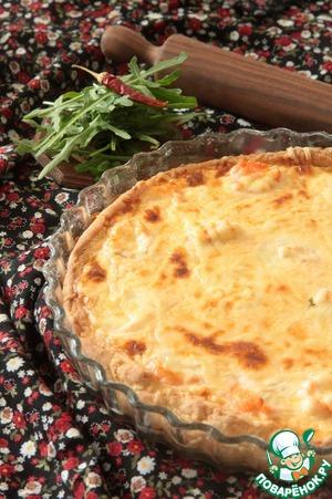 Рецепт Киш с лососем и моцареллой