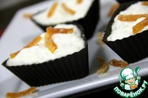 Рецепт Шоколадные корзиночки с творожным кремом и цукатами