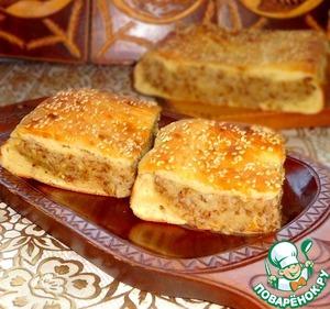 Рецепт Постный пирог с картофелем и гречкой