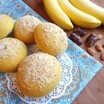 Иранские постные булочки с бананово-финиковой начинкой