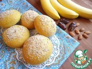 Рецепт Иранские постные булочки с бананово-финиковой начинкой