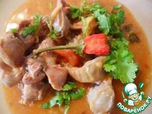 Рецепт Желудки куриные с подливой из томатов