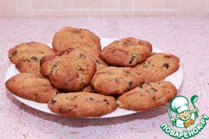 Рецепт Печенье с шоколадом и черносливом