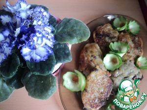 Рецепт Картофельные оладушки с фасолью и грибами