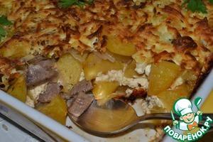 Рецепт Запеченный картофель с вином и сыром