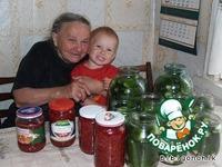"""Соленые огурцы """"Хрустящие"""" ингредиенты"""