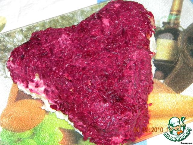 рецепт салата сердечная роза фото