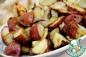 Рецепт Запеченый картофель с чесноком