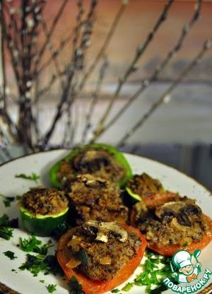 Рецепт Овощи, фаршированные гречкой и грибами