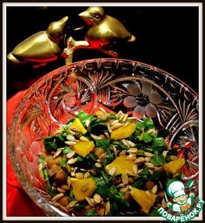 Рецепт Тёплый салат из чечевицы с клюквой и апельсинами