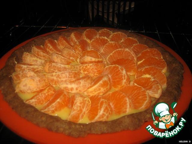 Пирог с мандаринами рецепт пошагово в духовке