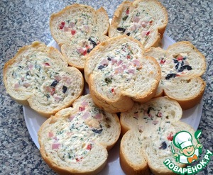 Рецепт Фаршированный багет
