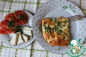Рецепт Фриттата с беконом и зеленым горошком