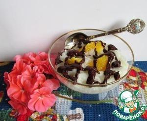 Рецепт Кокосовый пудинг с апельсином и шоколадом