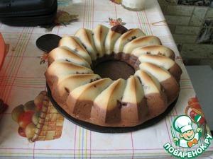 Рецепт Шоколадный кекс-рулет с шоколадной начинкой