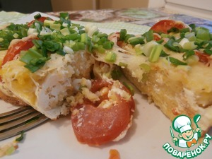 Рецепт Полента с помидорами