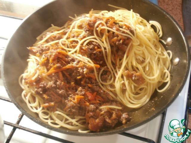 Рецепт спагетти болоньезе пошаговый рецепт с