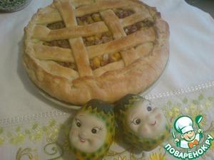 """Рецепт Пирог """"Считается"""" с мясом, фасолью и тыквой"""